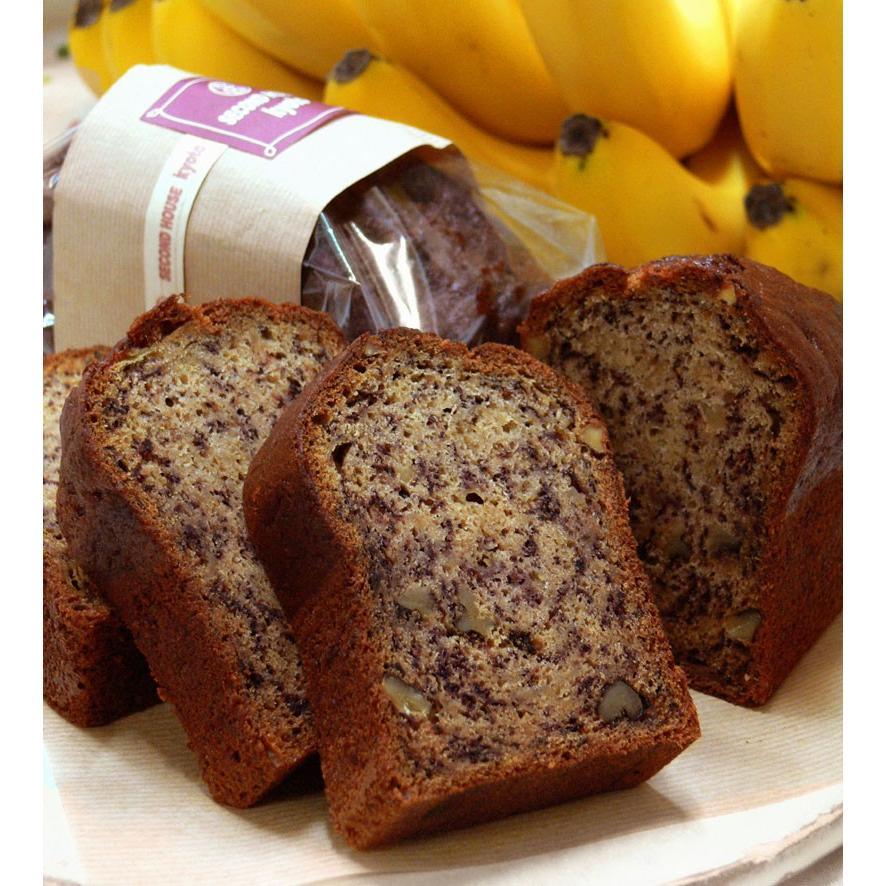 新作アイテム毎日更新 バナナナッツパウンドケーキ 1本 バナナとくるみたっぷり ずっしり詰まったパウンドケーキ 返品送料無料 国産小麦