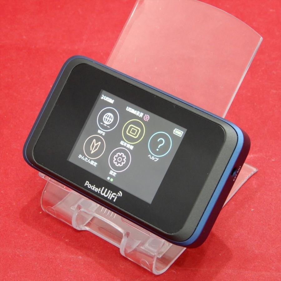 HUAWEI Pocket WiFi 502HW ワイモバイルSIMロック解除済み ネイビーブルー  NO.210106081|secondomono