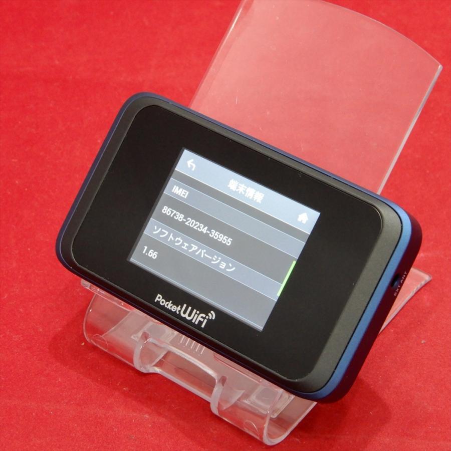 HUAWEI Pocket WiFi 502HW ワイモバイルSIMロック解除済み ネイビーブルー  NO.210106081|secondomono|09