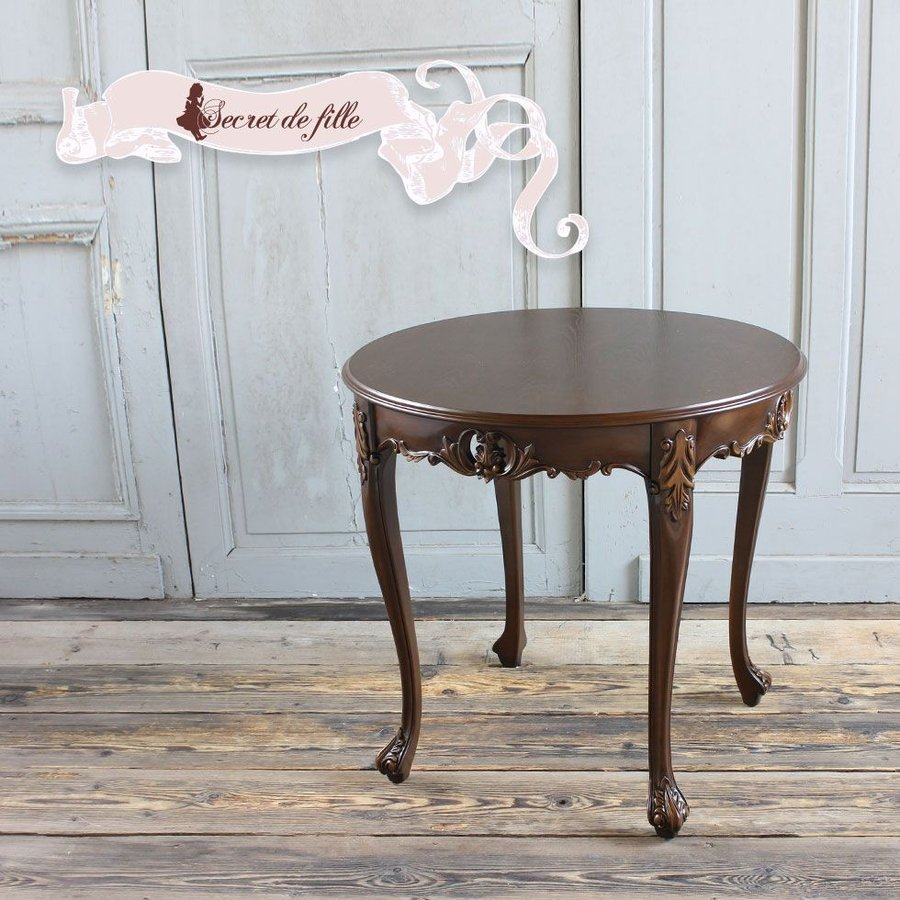 コーヒー カフェテーブル アンティーク アンティーク ラウンド 姫系 猫脚 英国 エレガント