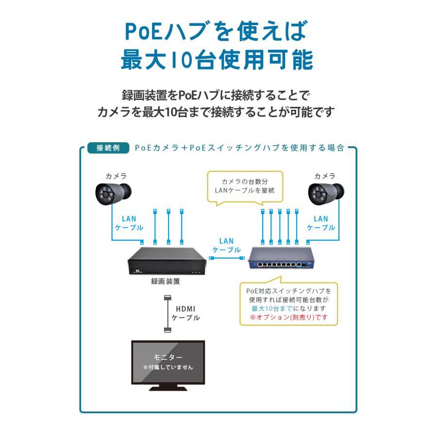 防犯カメラ 屋外 セット 電源不要 監視カメラ PoE 家庭用 wifi 録画 secu 07