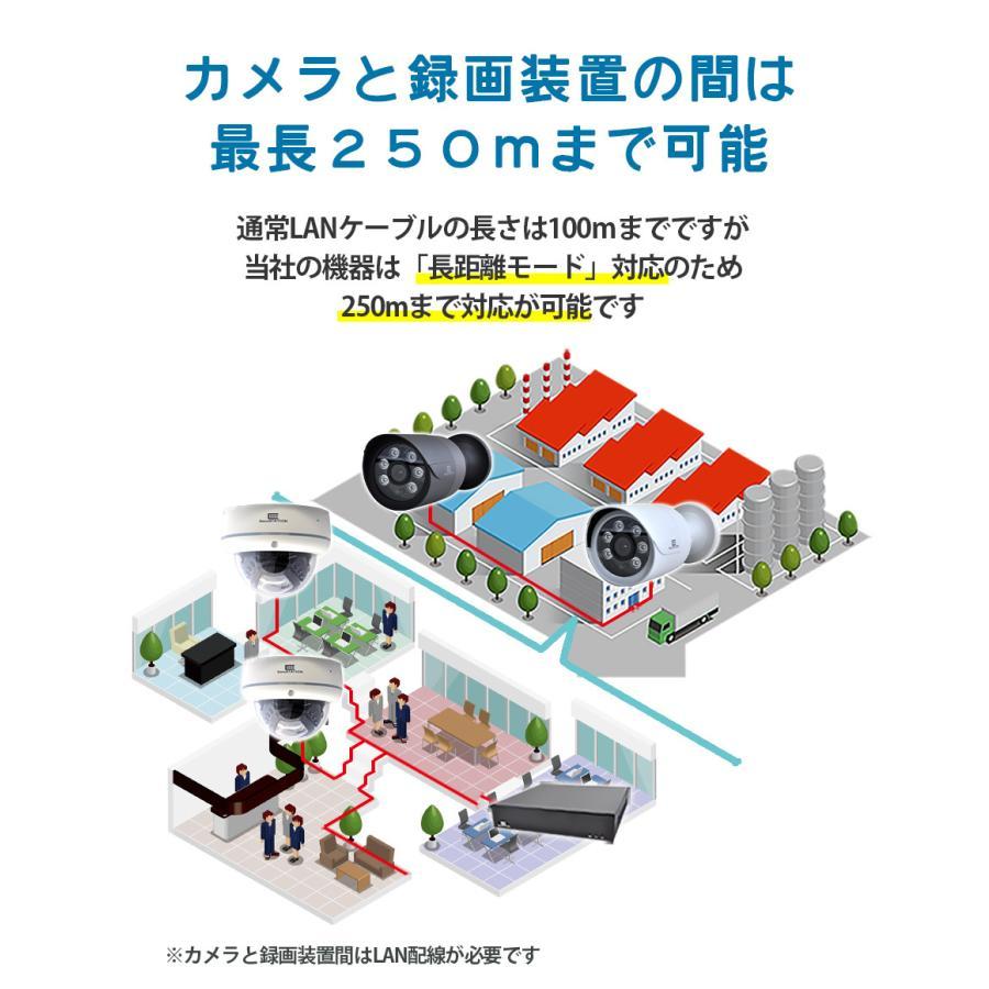 防犯カメラ 屋外 セット 電源不要 監視カメラ PoE 家庭用 wifi 録画 secu 09