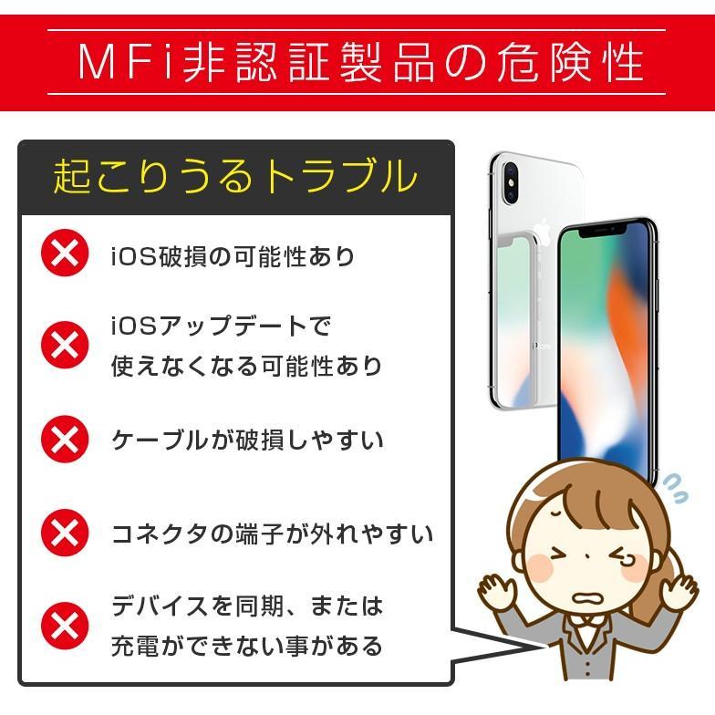 Lightningケーブル 2m mfi認証 ライトニングケーブル iPhone 認証 1m 50cm 15cm secu 07