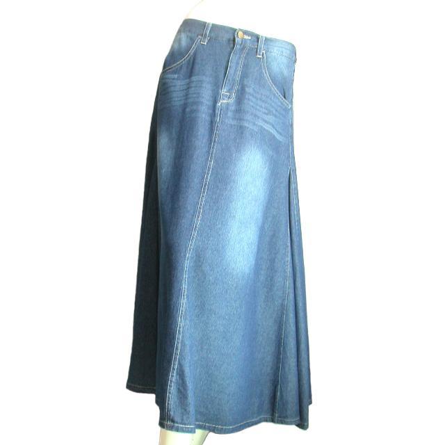 デニムロングスカート フレア マキシ丈スカート 裾周りたっぷり Seduce seduce 02