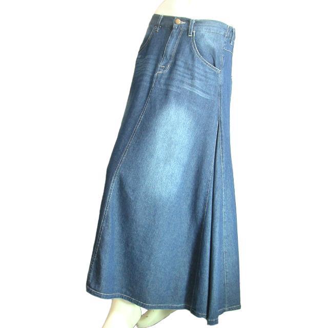 デニムロングスカート フレア マキシ丈スカート 裾周りたっぷり Seduce seduce 03