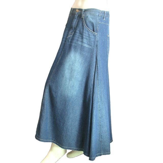 デニムロングスカート フレア マキシ丈スカート 裾周りたっぷり Seduce seduce 04