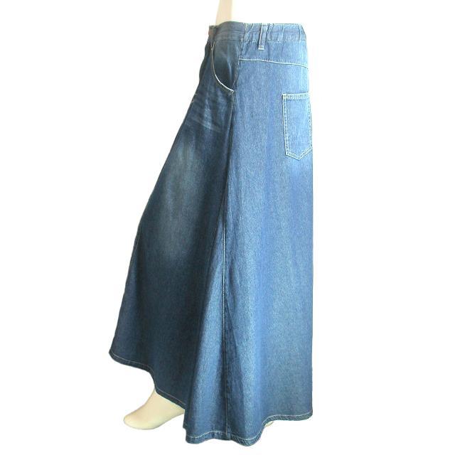 デニムロングスカート フレア マキシ丈スカート 裾周りたっぷり Seduce seduce 05