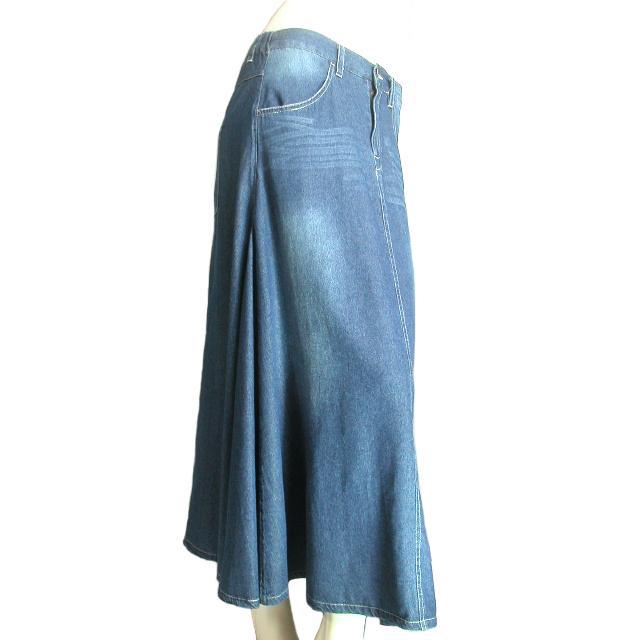デニムロングスカート フレア マキシ丈スカート 裾周りたっぷり Seduce seduce 08