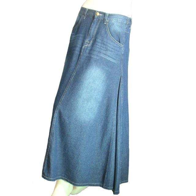 デニムロングスカート フレア マキシ丈スカート 裾周りたっぷり Seduce seduce 09