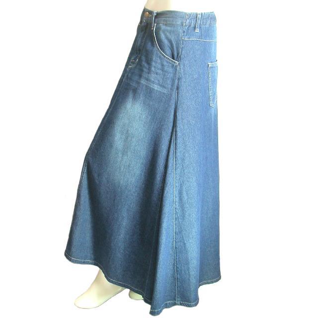 デニムロングスカート フレア マキシ丈スカート 裾周りたっぷり Seduce seduce 10
