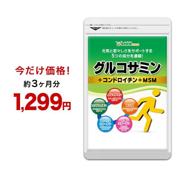 サプリ サプリメント [ギフト/プレゼント/ご褒美] 2型コラーゲン配合グルコサミン コンドロイチン ダイエット MSM 約3ヵ月分 格安 ウルトラタイムセール