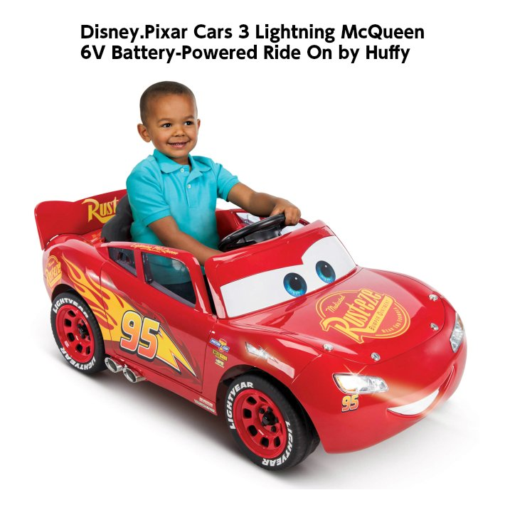 ディズニーピクサー カーズ バッテリーカー Disny Pixar Cars Lightning McQueen 6V Battery キッズ プレゼント 電動ミニカー