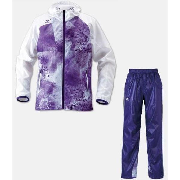 2012  ミズノ クロスティックウインドブレーカーシャツ/パンツ(裏メッシュ仕様)上下組 ウインドーブレーカー上下セット