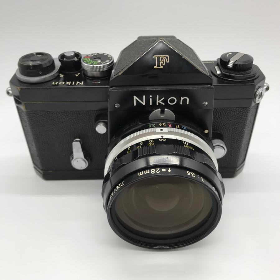Nikon F Eyelevel Finder Black Paint NIKKOR-H Auto 28mm F3.5 ニコンF アイレベルファインダー ブラックペイント 黒塗り Fマウント|seibucamera|03