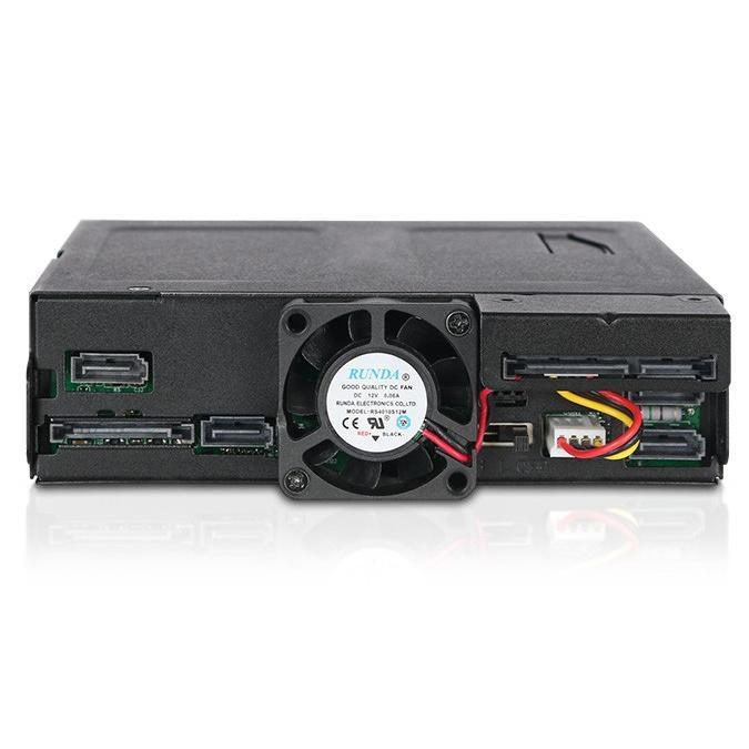 MB604SPO-B ToughArmor  リムーバブルケース  1 x 5インチベイ に 1 x Slim ODD + 4 x 2.5 インチ SATA SAS HDD SSD 搭載|seijinshoji|02