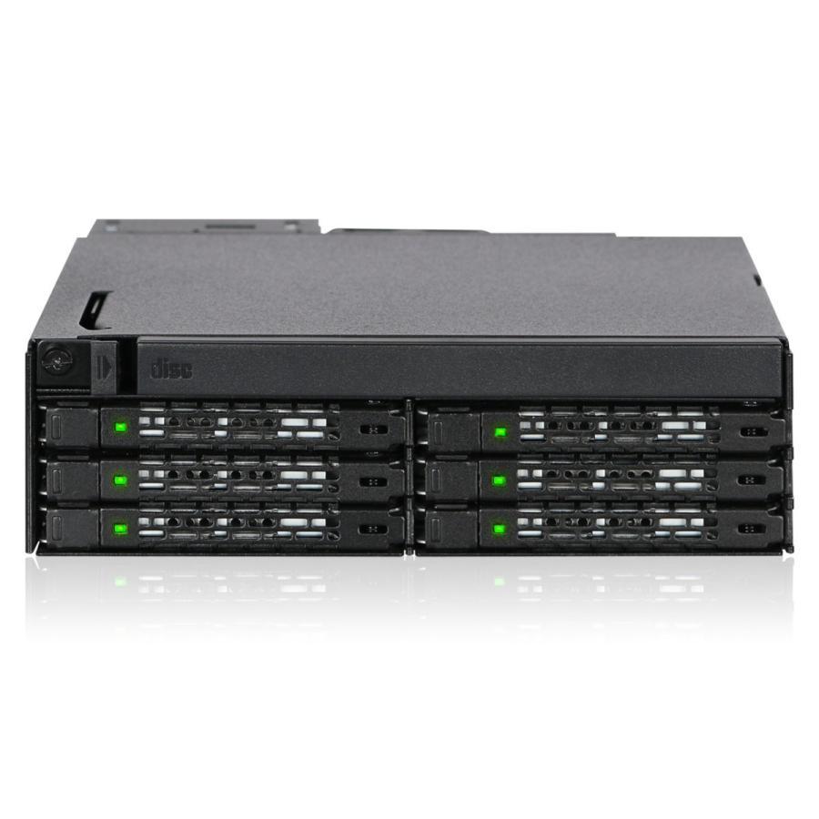 MB606SPO-B ToughArmor  リムーバブルケース  1 x 5インチベイ に 1 x Slim ODD + 6 x 2.5 インチ SATA SAS HDD SSD 搭載 seijinshoji