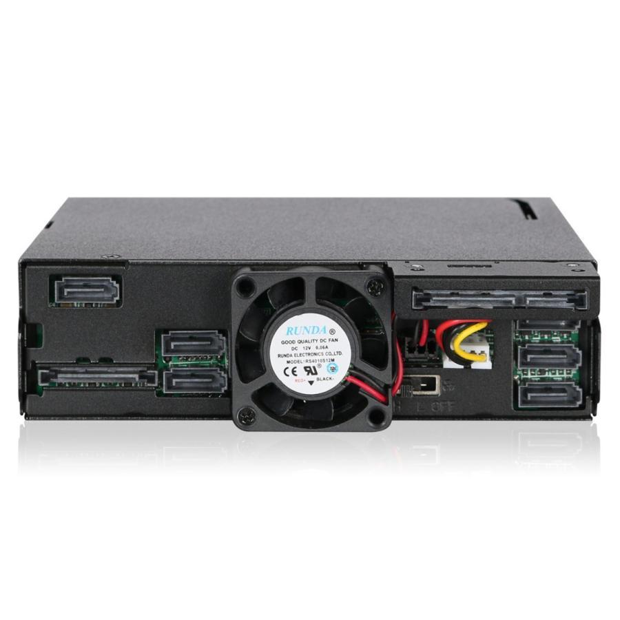MB606SPO-B ToughArmor  リムーバブルケース  1 x 5インチベイ に 1 x Slim ODD + 6 x 2.5 インチ SATA SAS HDD SSD 搭載 seijinshoji 02