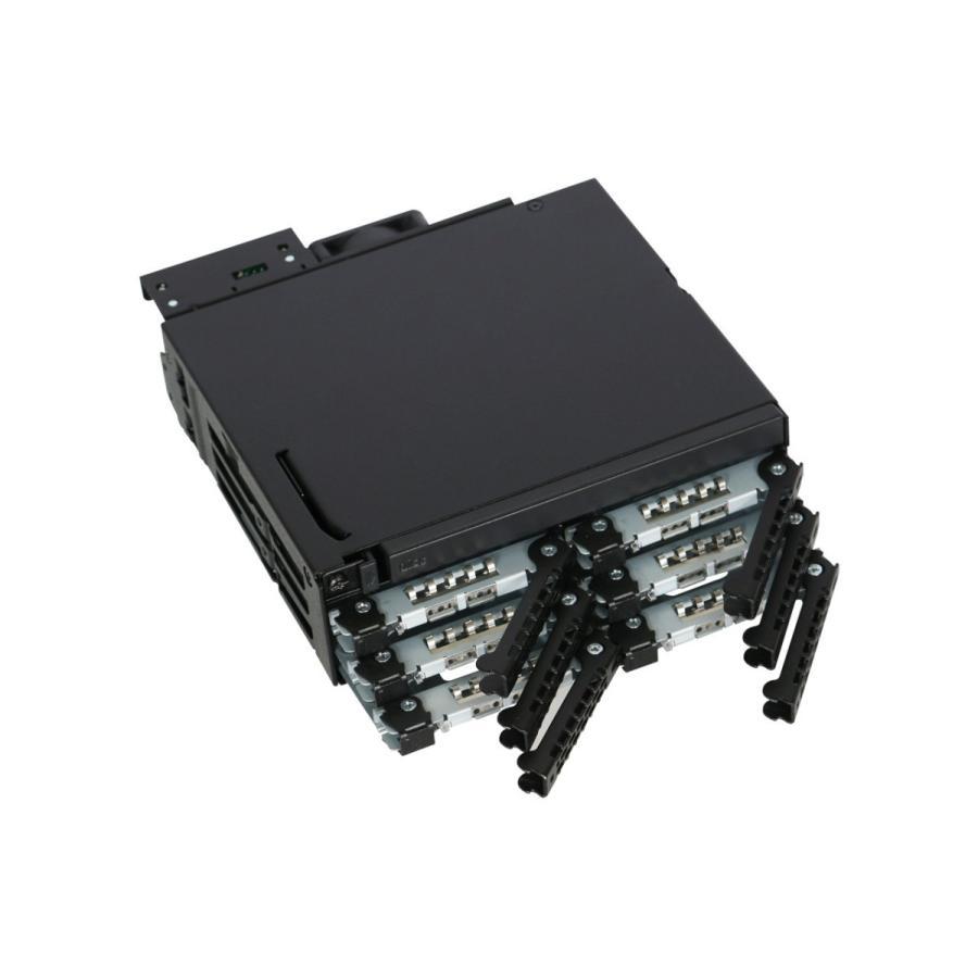 MB606SPO-B ToughArmor  リムーバブルケース  1 x 5インチベイ に 1 x Slim ODD + 6 x 2.5 インチ SATA SAS HDD SSD 搭載 seijinshoji 06