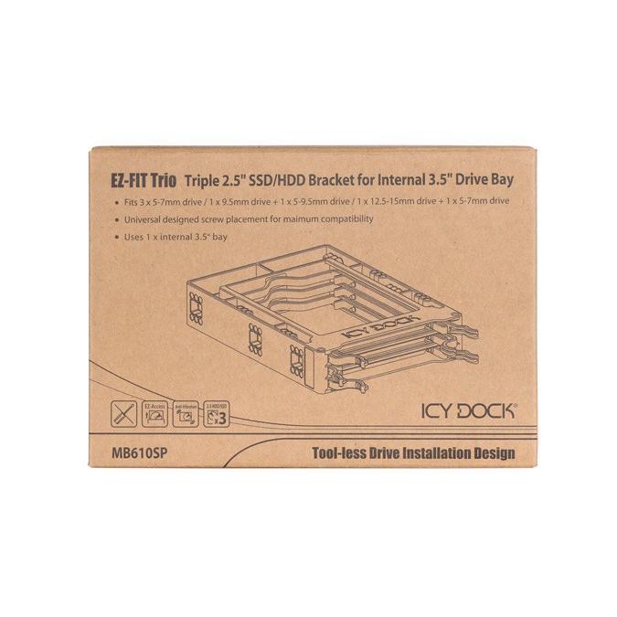 MB610SP EZ-FIT Trio 3.5インチサイズ マウンタ 3 x 2.5インチ SSD HDD 搭載用|seijinshoji|14
