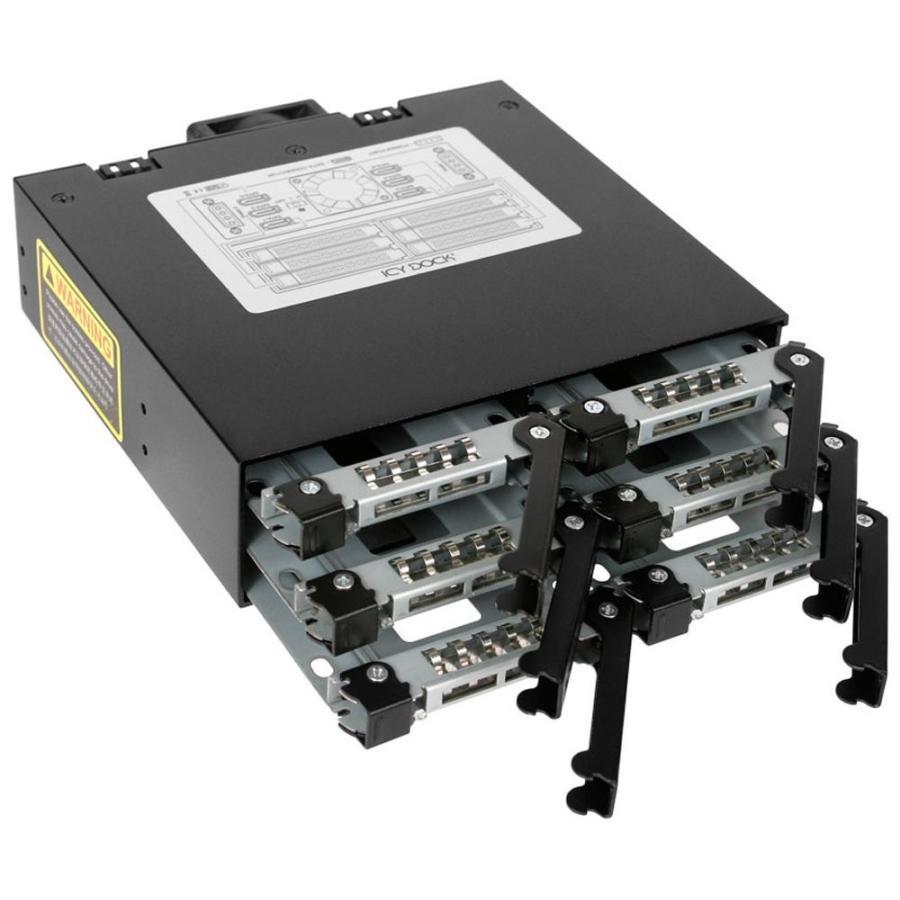 MB996SP-6SB リムーバブルケース 6 x 2.5インチ SATA 3 HDD / SSD 搭載可能 seijinshoji 04