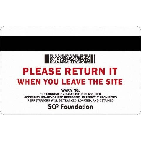 SCP財団 認証カード 来訪者用 2枚|seikastore|03