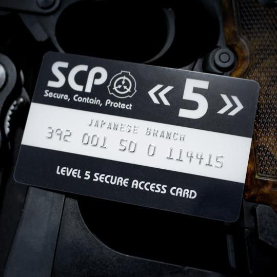 SCP財団 認証カード レベル5|seikastore