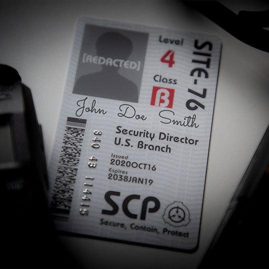 SCP財団 記名式認証カード 合衆国支部セキュリティ責任者|seikastore