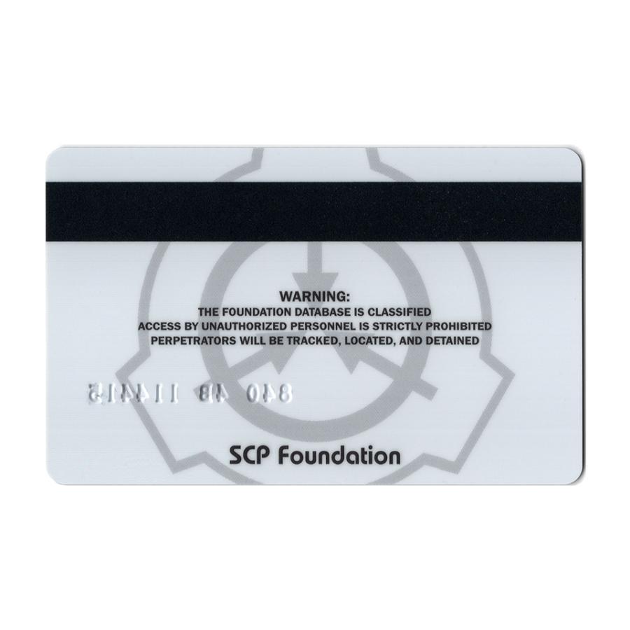 SCP財団 記名式認証カード 合衆国支部セキュリティ責任者|seikastore|03