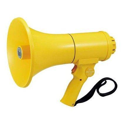 拡声器 TOA ホイッスル音付ハンド型メガホン 15W ER-1115W