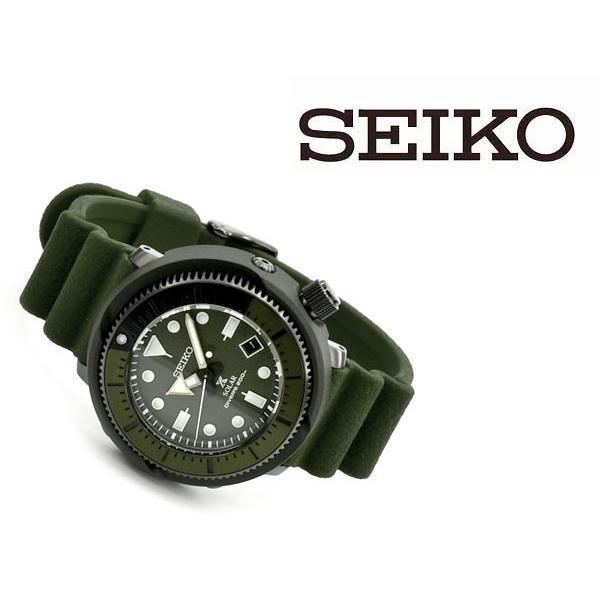 逆輸入 SEIKO PROSPEX STREET SERIES ストリートシリーズ ソーラー DIVER's200m メンズ 腕時計 ツナ缶 オリーブグリーンダイアル SNE535P1 seiko3s 02