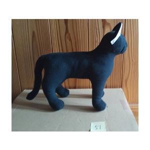 ネコ ぬいぐるみ兼トルソー(子猫) 黒ネコ051