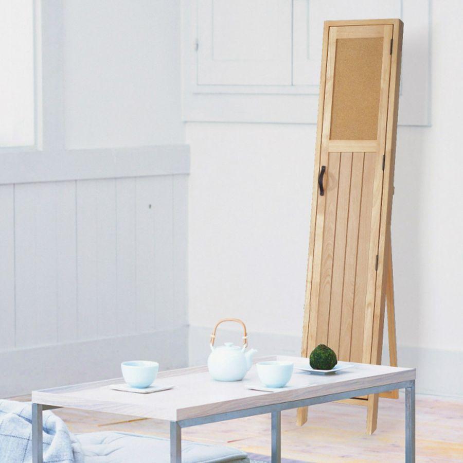 おしゃれ 鏡 ミラー ミラー 全身 姿見 玄関 北欧 洗面 トイレ スタンドミラー 収納 便利 一体 ナチュラル 木製 茶 ブラウン ナチュラル POCO スタンド