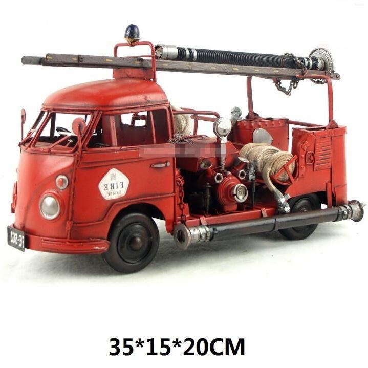 消防車 Germany Volkswagenブリキ製 オールドカー ビンテージカー (全て手作り)mot223