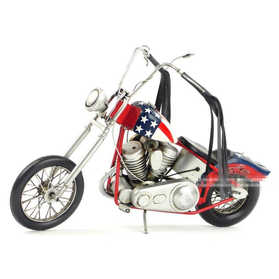 ハーレーダビットソン ジェームス・ディーン HARLEY-DAVIDSON James Dean レトロ ブリキ製 ビンテージバイク (全て手作り)mot45