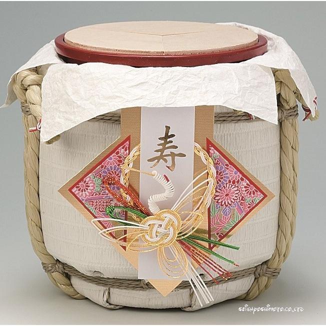結婚式披露宴演出 ミニ鏡開きこも樽 お祝い飾り鶴寿 :O-0007 ...