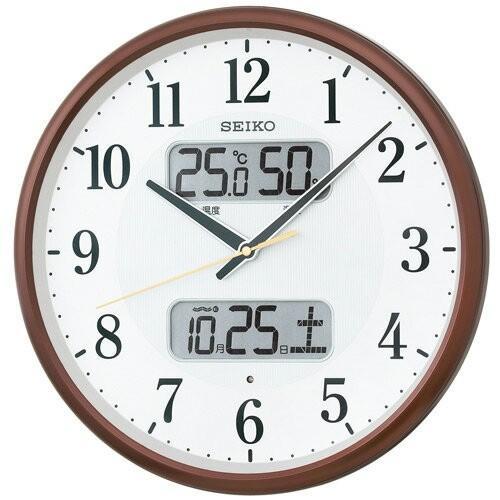即日出荷 ブランド買うならブランドオフ セイコー 電波掛時計 カレンダー 温度 <セール&特集> 湿度表示つき KX383B
