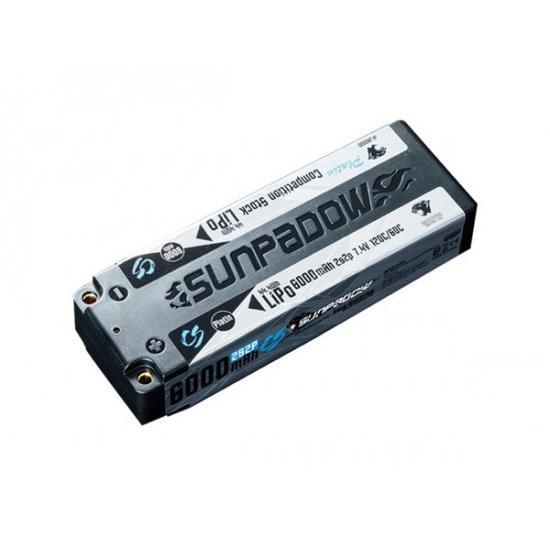 SUNPADOW セール 登場から人気沸騰 大放出セール 7.4V 6000mAh 120C サンパドウ日本総代理店 リポバッテリー Platin