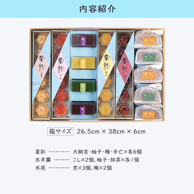 お中元/2種のゼリーと水羊かんの贅沢セット「おしろいばな」/ひんやり夏の和菓子/甘納豆の雪華堂|sekkado|02