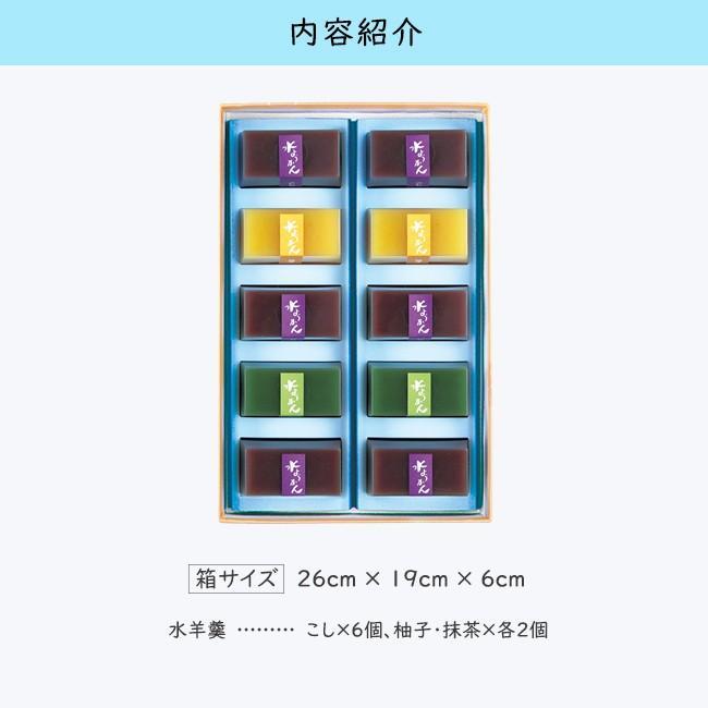 お中元/水羊かん10個詰合/ひんやり夏の和菓子/甘納豆の雪華堂 sekkado 02