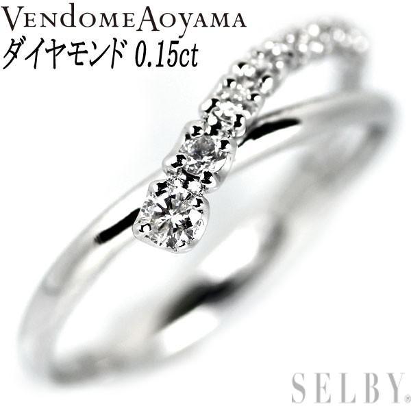人気ブランド ヴァンドーム青山 K18WG ダイヤモンド リング D0.15ct SELBY, ミツキ 8868730f