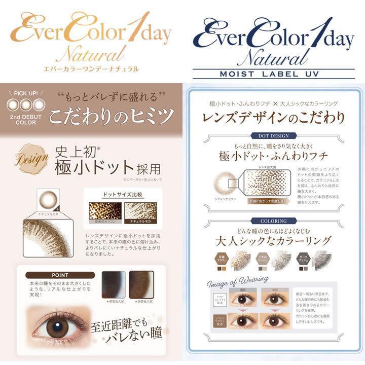 エバーカラーワンデー ナチュラル&モイストレーベルUV/2箱SET(40枚)全18カラー|select-eyes|04