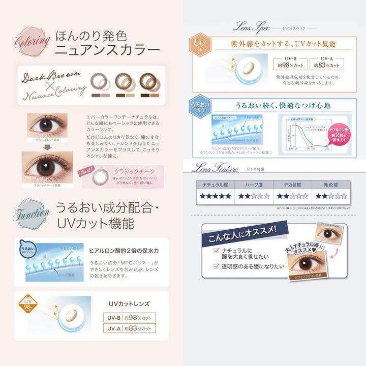 エバーカラーワンデー ナチュラル&モイストレーベルUV/2箱SET(40枚)全18カラー|select-eyes|05