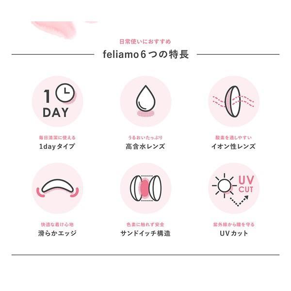 【2箱購入で1箱無料】フェリアモ ワンデーカラコン 2箱SET/feliamo/白石麻衣イメージモデル(10枚入り/9色) select-eyes 05