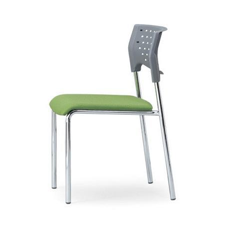 スタッキングチェア MC-211Gクロームメッキタイプ 素材・カラー選べます オフィス家具 会議 チェア/椅子グレーシェル仕様 送料無料 送料無料
