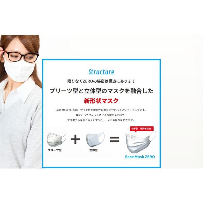 Ease Mask ZERO イーズマスク ゼロ レギュラー すこし小さめ くもり止め 曇り止め メガネのくもり止め 眼鏡 5枚入|select-s432|08
