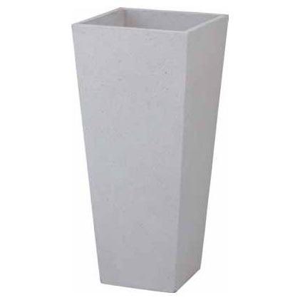 ロングポット アレグロ(大)ホワイト W420×H900 ポット プランター プランターボックス 大型 おしゃれ 深型 大鉢 長方形 モダン 鉢植え プラスチック 陶器
