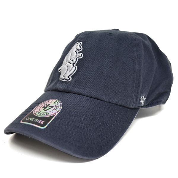 MLB カブス キャップ 帽子 ネイビー 47ブランド Cooperstown Clean Up Adjustable キャップ【0702価格変更)】