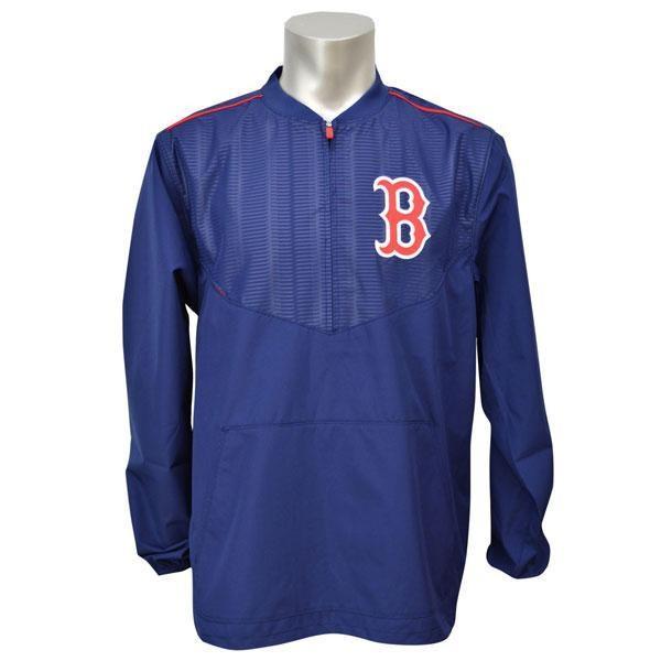 MLB レッドソックス ジャケット ネイビー マジェスティック 2015 On-Field Long Sleeve Training ジャケット【1910価格変更】