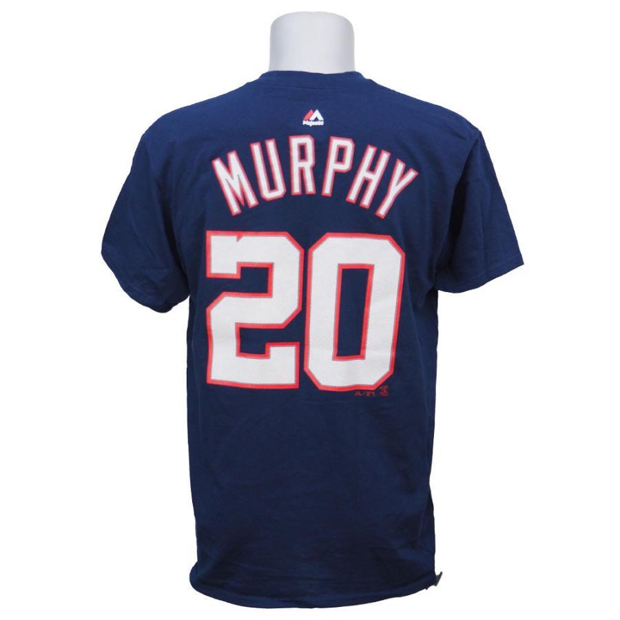 ワールドシリーズ進出 MLB ナショナルズ ダニエル・マーフィー プレイヤー Tシャツ マジェスティック/Majestic ネイビー