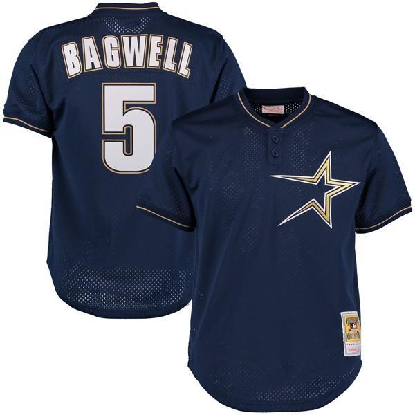 【ギフト】 お取り寄せ MLB アストロズ ジェフ・バグウェル クーパーズタウン 1997 メッシュ バッティング プラクティス ユニフォーム Mitchell & Ness, 金山町 080897d0